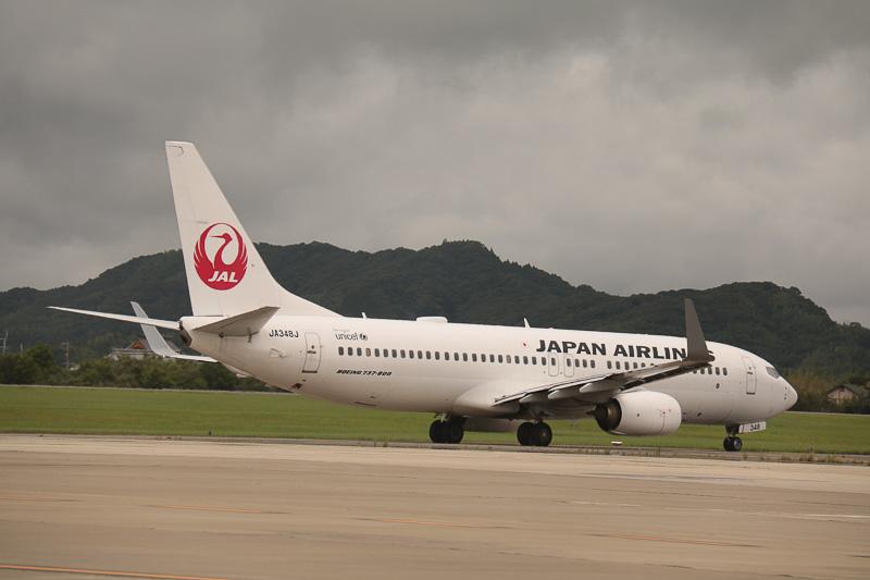 羽田に向かうJL494便