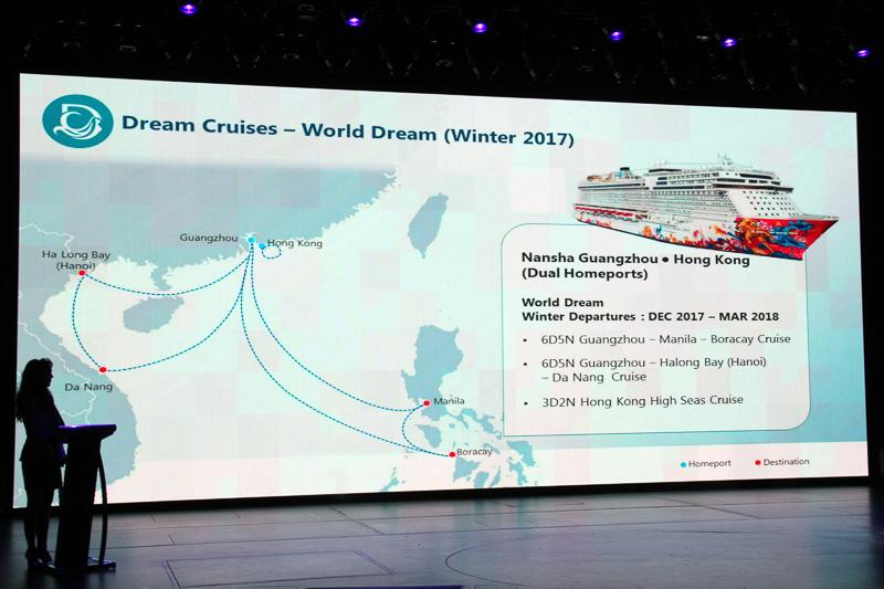 ドリームクルーズの新造船「ワールド ドリーム」は今年11月に広州・香港発着で就航予定