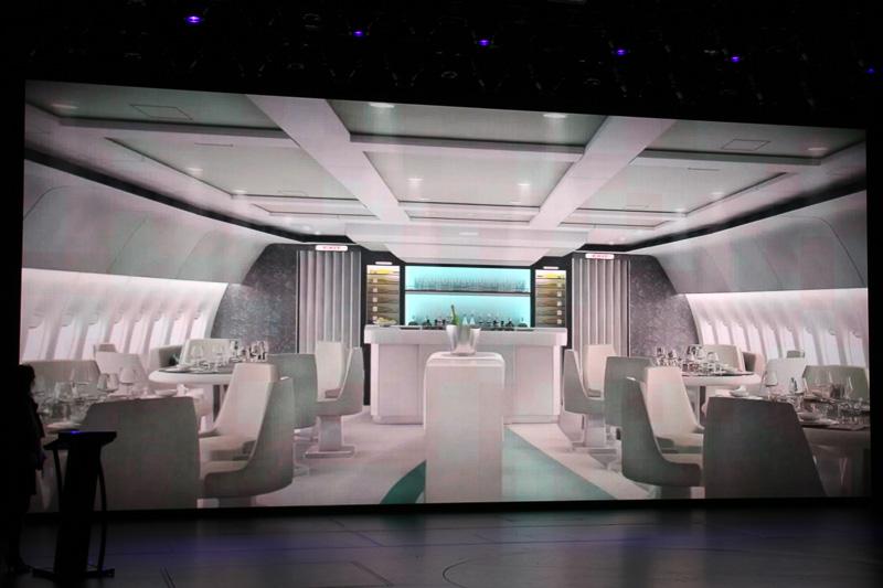機体はボーイング 777-200LR型機でファーストクラスシートの88席限定