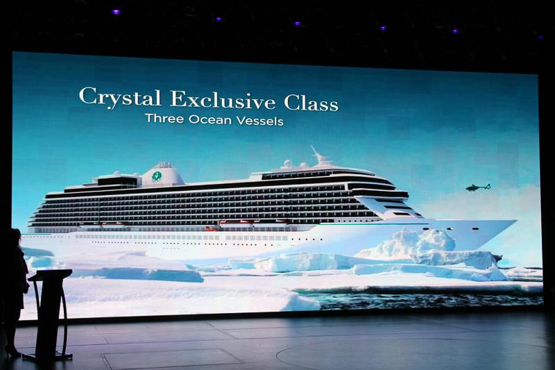 2022年就航予定の「クリスタル・エクスクルーシブ・クラス」にはレジデンスも備える