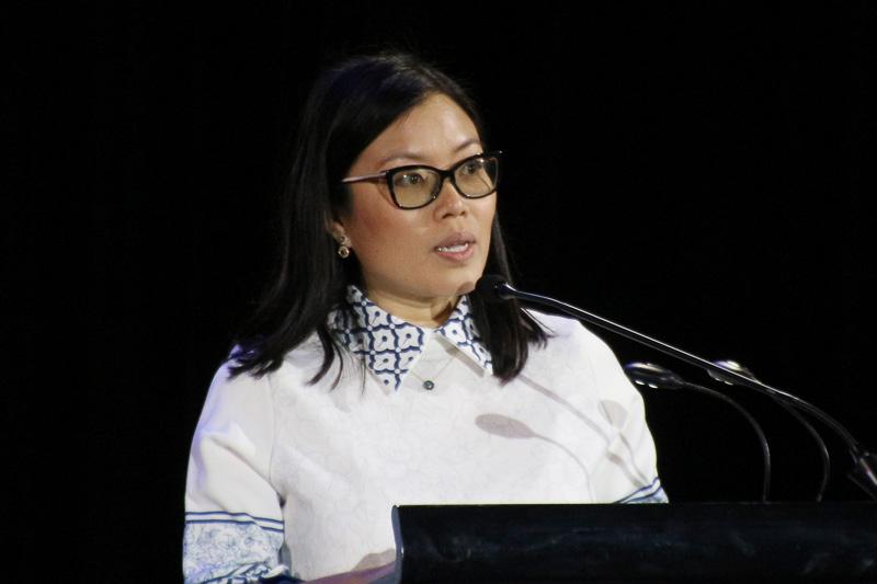 シンガポール観光局のLi Yuemin氏(Ms. Li Yuemin Area Director, South Asia Sigapore Tourism Board)