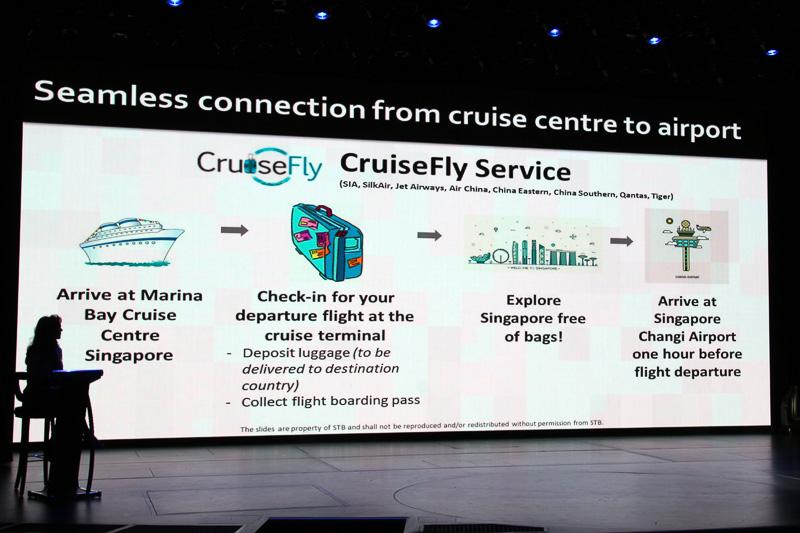 シンガポールは2つのクルーズターミナルからの観光地のアクセスのよさをアピール