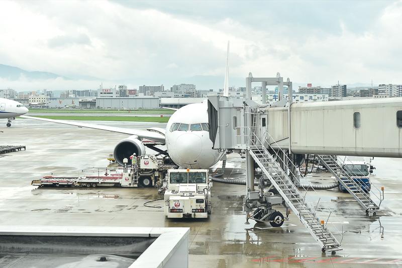 七夕フライトのJL318便の機材はボーイング 767型機(登録記号:JA601A)