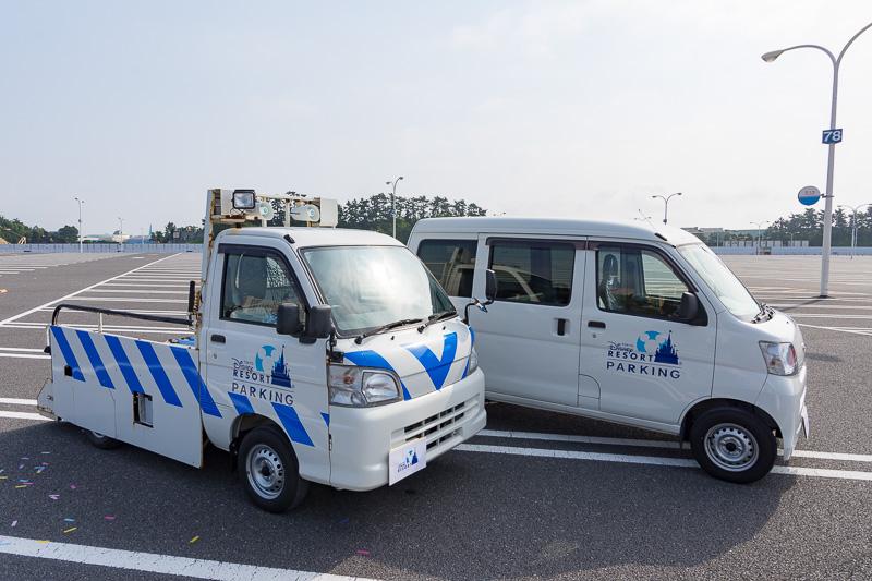 会場には東京ディズニーリゾートパーキングのラッピングが施されたダイハツ車も
