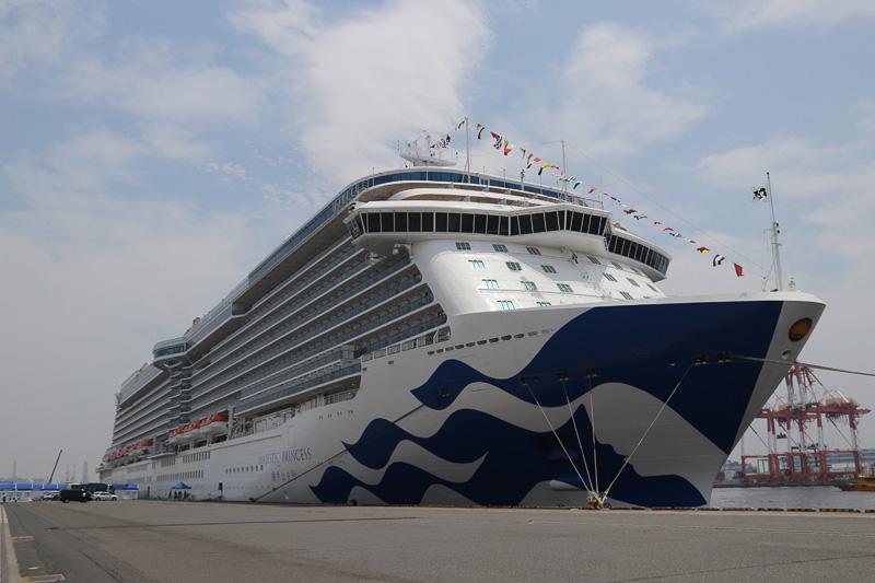 プリンセス・クルーズの最新客船「マジェスティック・プリンセス」が横浜に入港