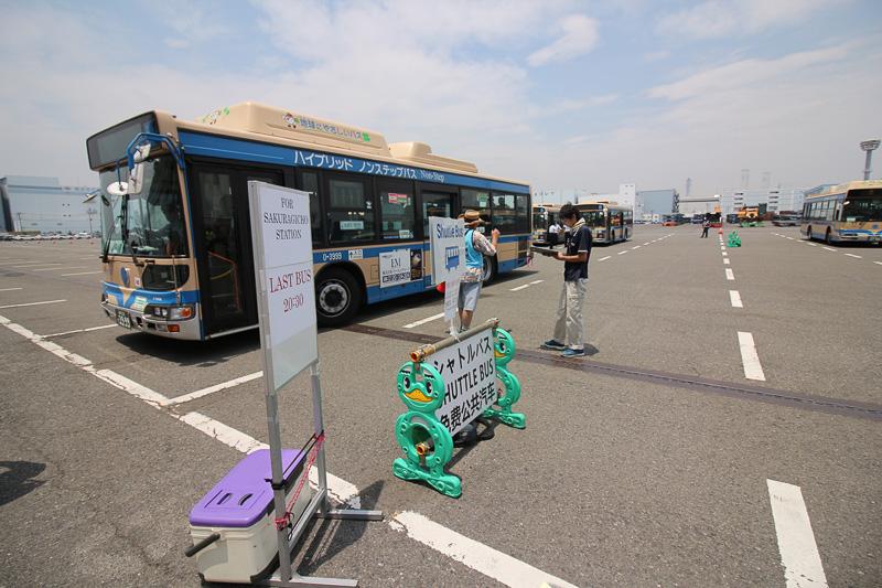 桜木町駅までのシャトルバス