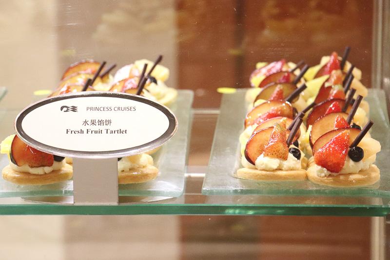 「インターナショナルカフェ」のケーキ