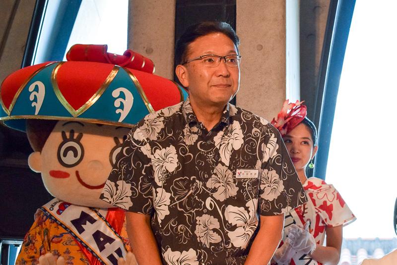 沖縄観光コンベンションビューロー 事務局次長 市原秀彦氏。同企画の立役者でもある