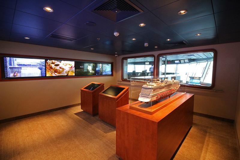 操舵室が見られる「ブリッジビューイングルーム」