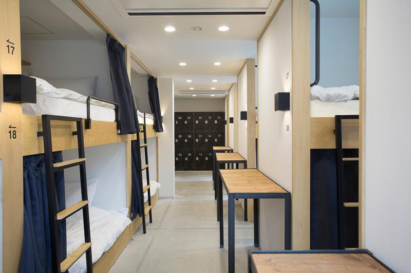 18人部屋ドミトリー。ベッドはセミダブルサイズ(提供写真:ピースホステル京都)