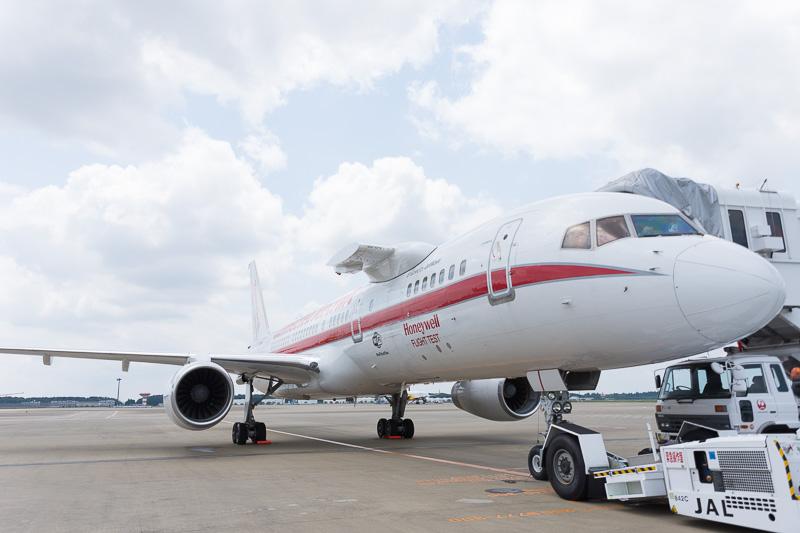 N757HWはテスト用に3機目のエンジンを取り付けられることで知られる