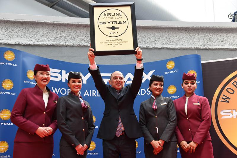 「2017 ワールド・エアライン・アワード」でベスト・オブ・ベストの賞となる「The World's Best Airline」を受賞したカタール航空