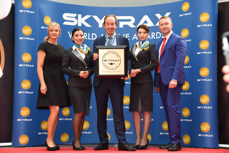 Best Airline Staff Service in Central Asia / India:Air Astana