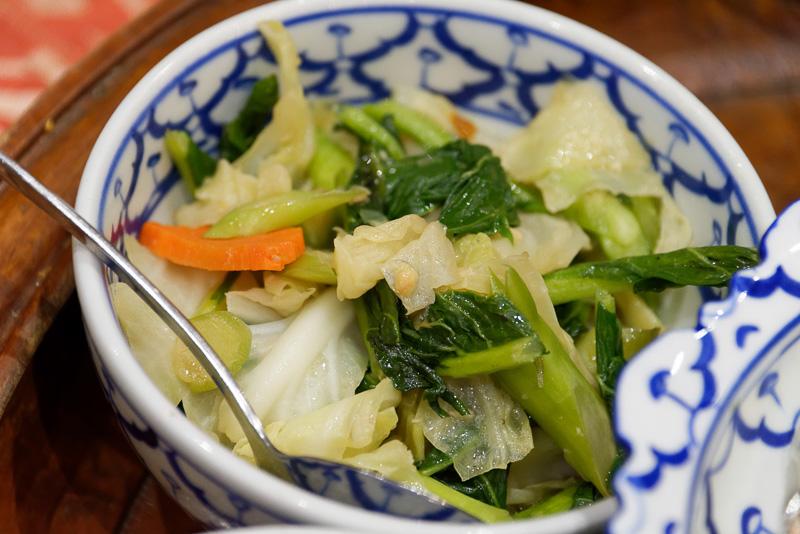 野菜炒め。まったく辛くないので、安心できる