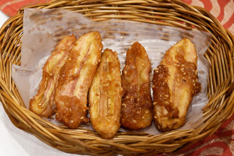 揚げバナナ。タイでよく食べられているおやつ