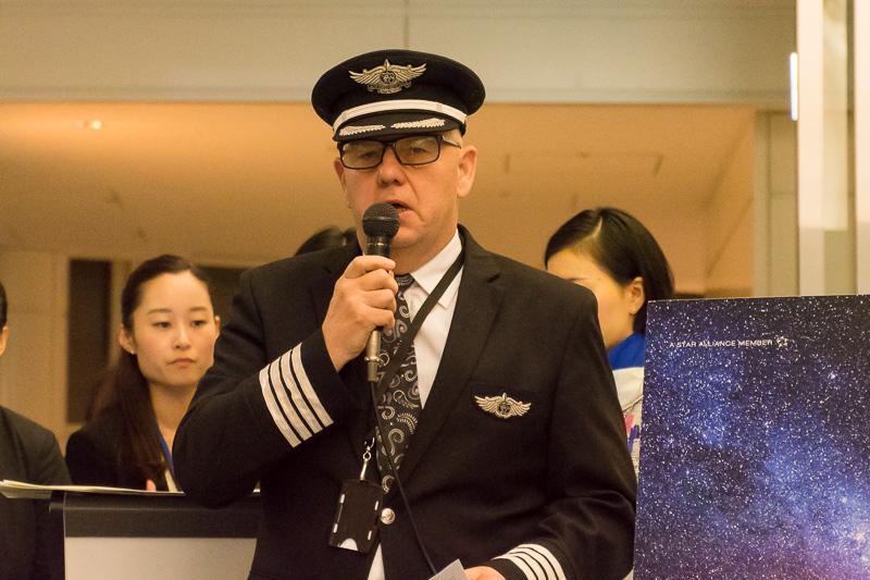 初便機長を務めるバリー・マリー(Barry Murray)機長