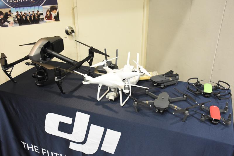 JALと国土交通省 航空局による説明の合間には、DJI JAPANがドローンの実演を行なった