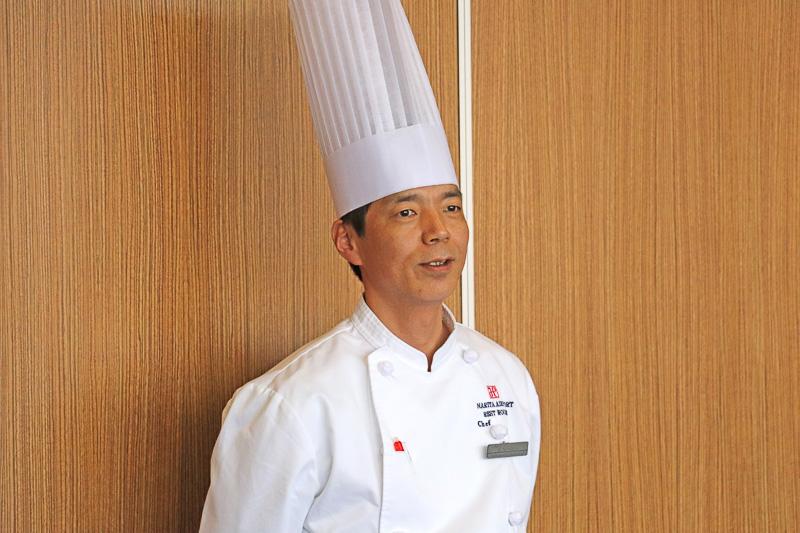 料理を担当したシェフの西尾氏