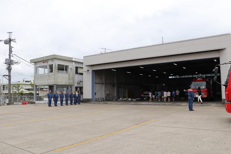 空港消防西分遣所に到着