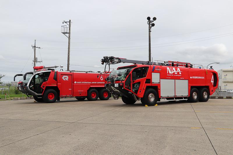 2016年に導入された「HRET」と化学消防車