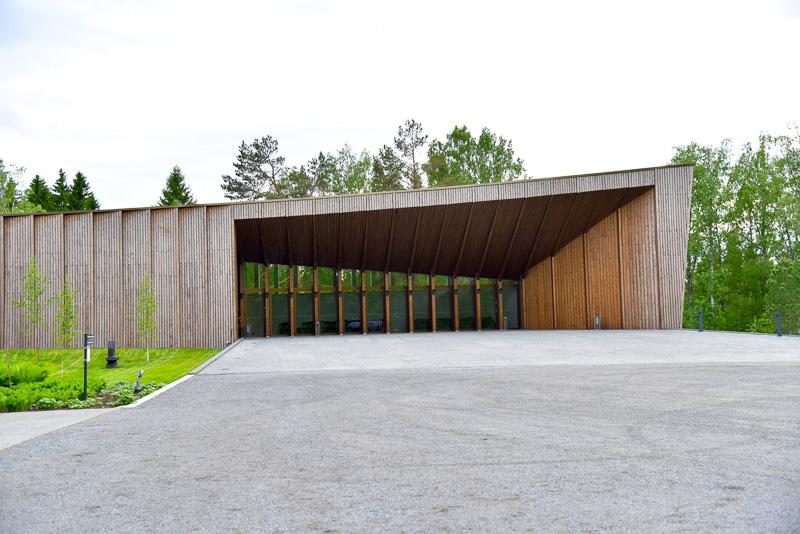木をふんだんに使った「セーラキウス・ミュージアム・イェスタ」の「パビリオン」