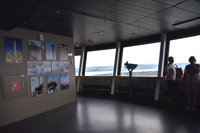 120mの展望台からの眺め、タンペレを挟む2つの湖や「サルカンニエミ・アドベンチャーパーク」も一望できる