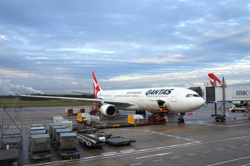 ブリスベン空港に到着したA330-300型機