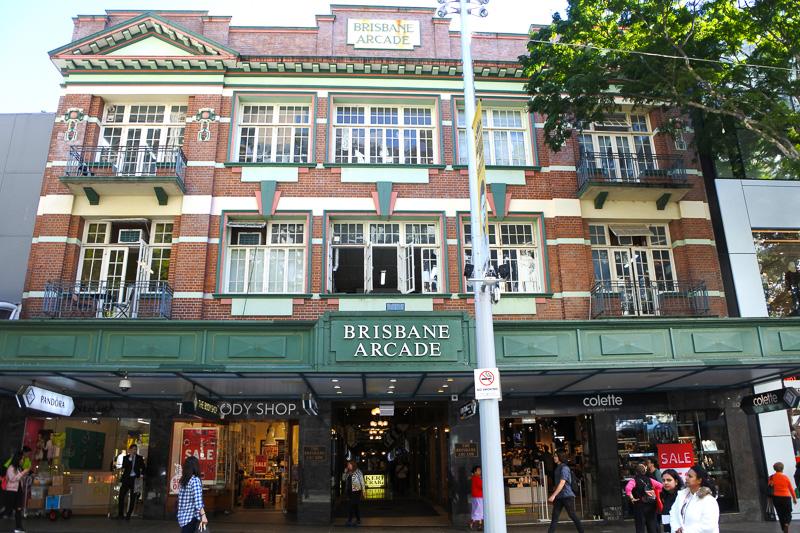 市内最古の商店街「ブリスベン・アーケード」へ