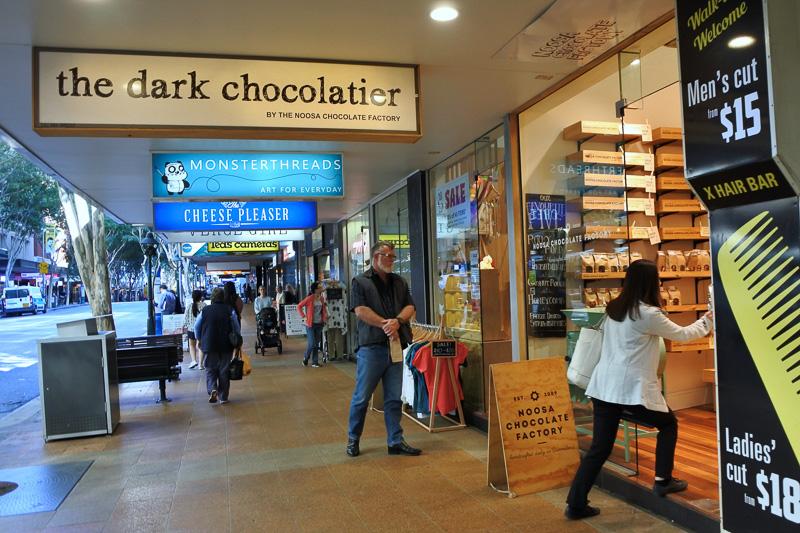「ヌーサ・チョコレート・ファクトリー」。店内もおしゃれ