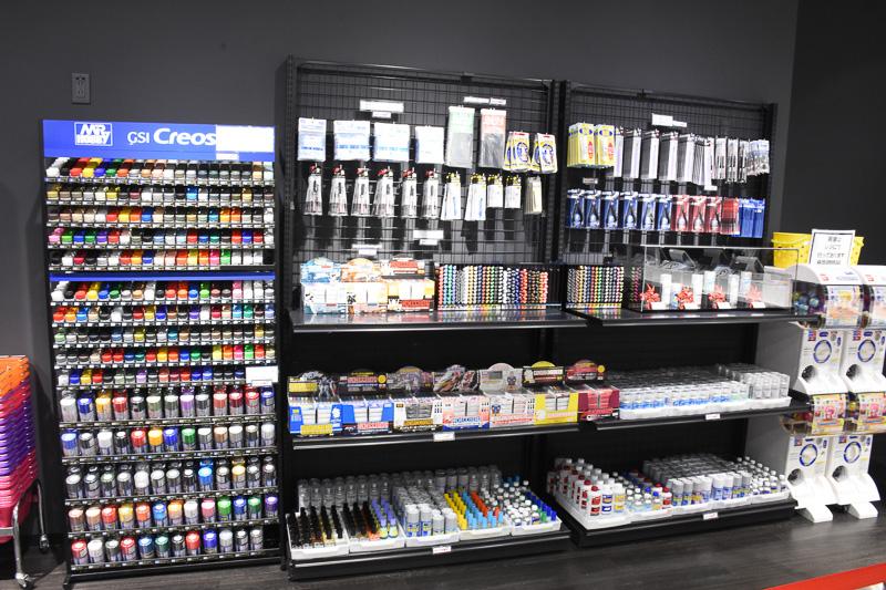 工具や塗料も購入できる