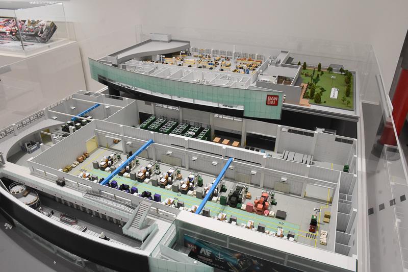 静岡にあるバンダイのガンプラ工場「バンダイホビーセンター」の1/200模型
