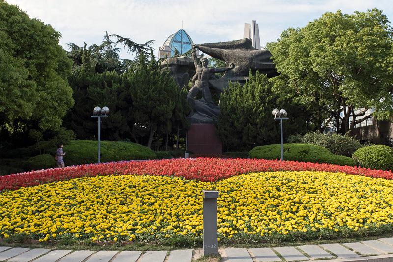 黄埔公園の端の辺りある像。こちらの像の名前は調べても出てこなかった