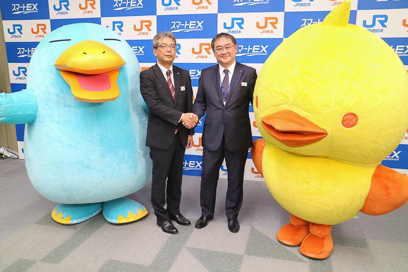 JR西日本とJR東海は「スマートEX」を9月30日から開始する