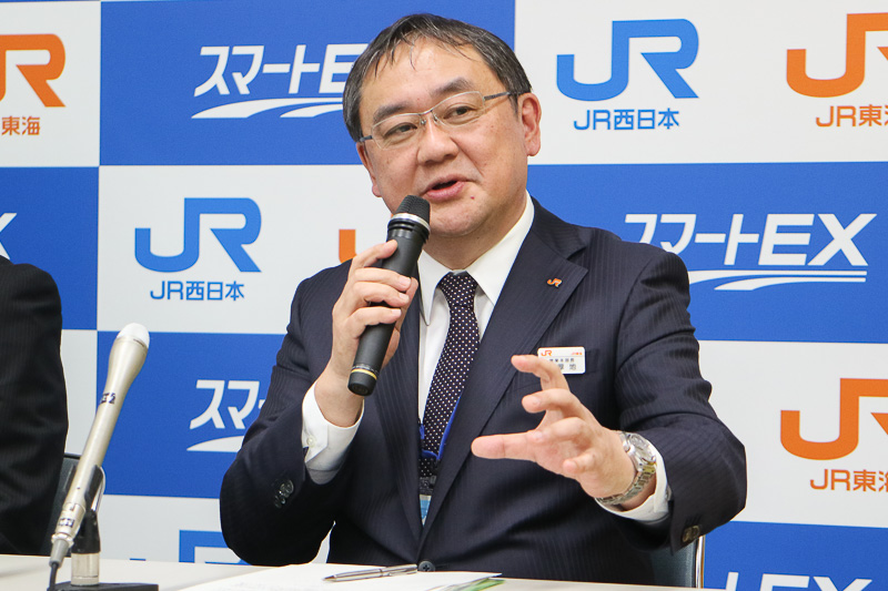 東海旅客鉄道株式会社 専務執行役員 営業本部長 厚地(あつち)純夫氏