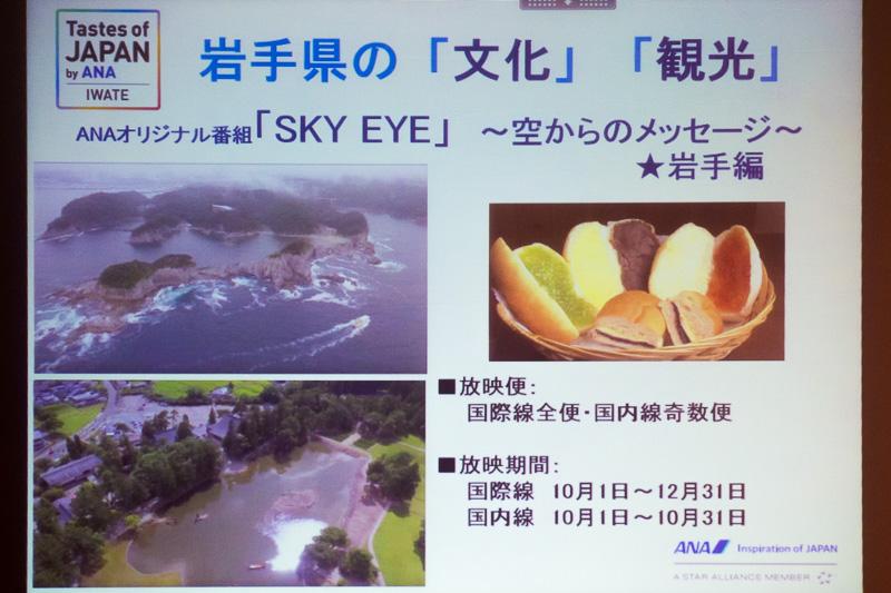機内番組「SKY EYE~空からのメッセージ~ 岩手編」