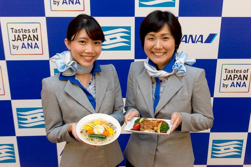 ANAと兵庫県が「Tastes of JAPAN by ANA HYOGO」の記者発表会を実施。神戸空港、伊丹空港に勤務する兵庫県出身の地上旅客スタッフが司会などを務めた