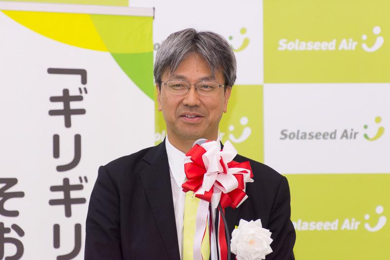 株式会社ソラシドエア 代表取締役社長 髙橋宏輔氏