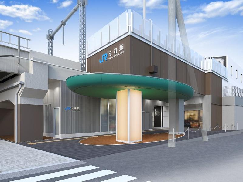JR西日本が大阪環状線 玉造駅のリニューアルに着手。「勾玉(まがたま)」をモチーフとしたひさしを採用