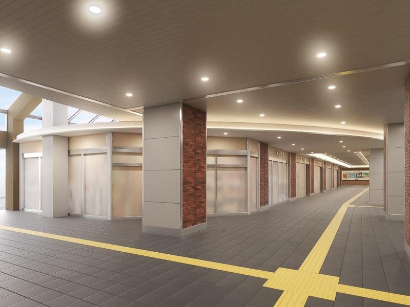 リニューアル後の駅構内イメージ