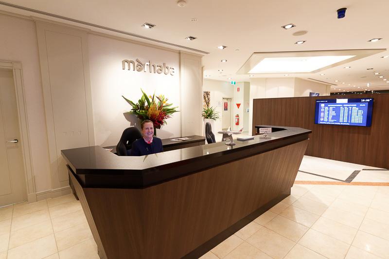 ラウンジ名の「marhaba(マルハバ)」は、アラビア語で「welcome」の意味だという。日本人にもマッチしやすいサービスにしているとのこと