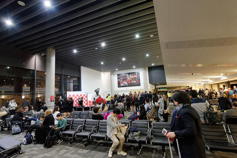 メルボルン空港の搭乗口の様子