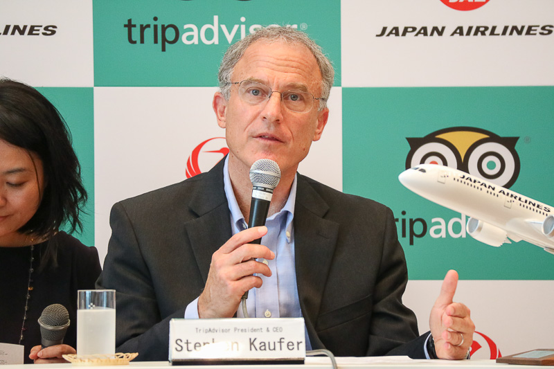 TripAdvisor, Inc. President & CEO ステファン・カウファー氏