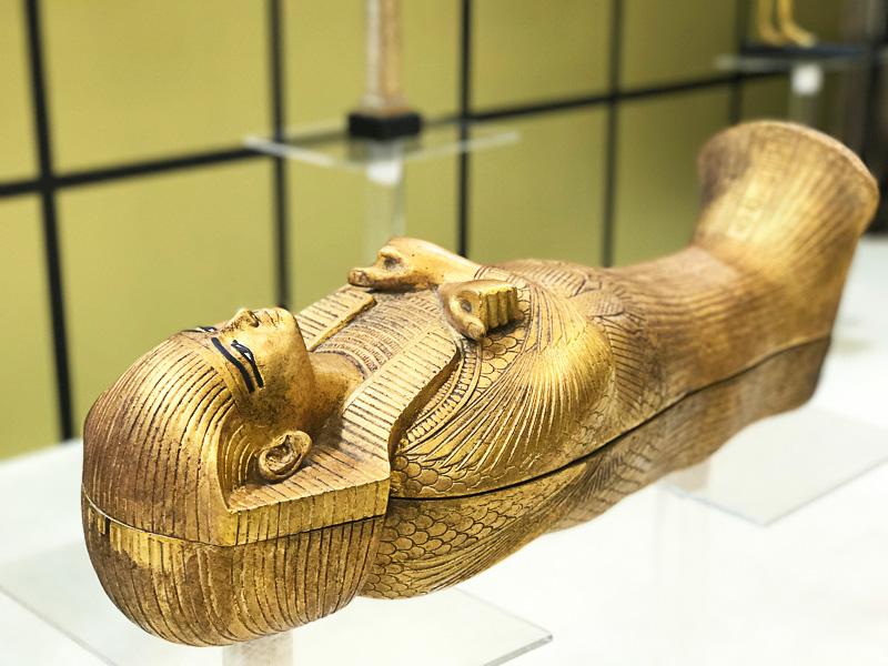 考古省レプリカの展示タイムも見もの