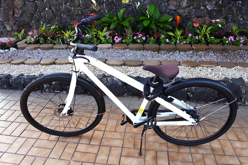 フロントで貸し出し希望の旨を伝えると、別室に案内され自分に合ったサイズの自転車を選べた