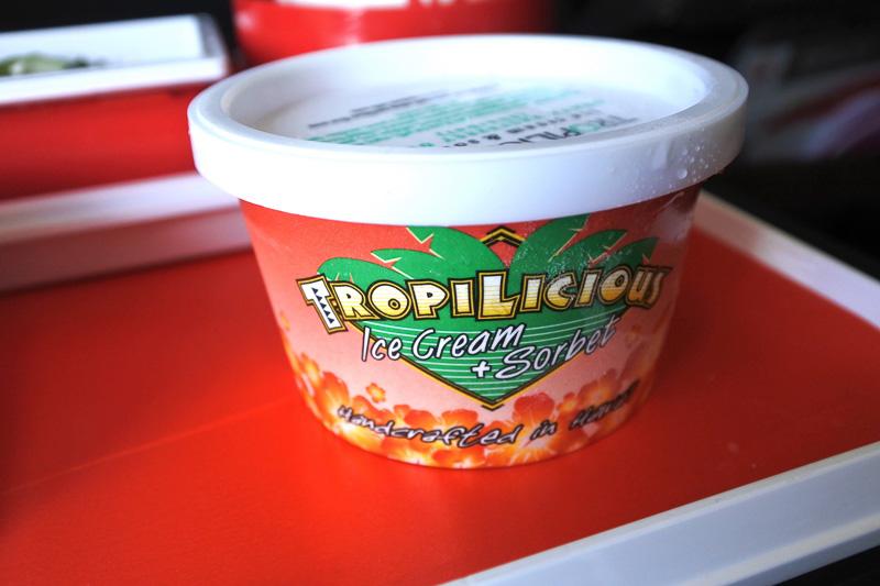 「TROPILICIOUS ice cream & sorbet GUAVA RASPBERRY DREAM」も提供