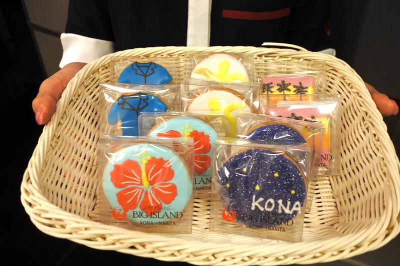 コナ線就航記念として「就航記念特別クッキー」を配布。ハワイの5つの魅力をアイシングクッキーで表現