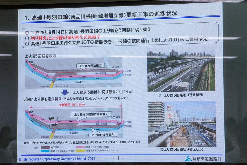 高速1号線羽田線(東品川桟橋・鮫洲埋立部)更新工事の進捗状況の解説図