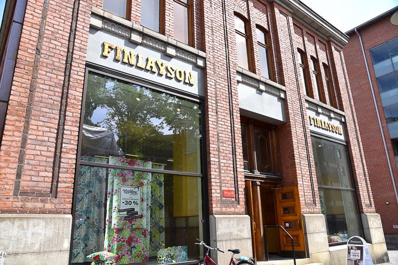1923年オープン当初そのままの場所で営業中の「Finlayson Factory Shop Tampere」
