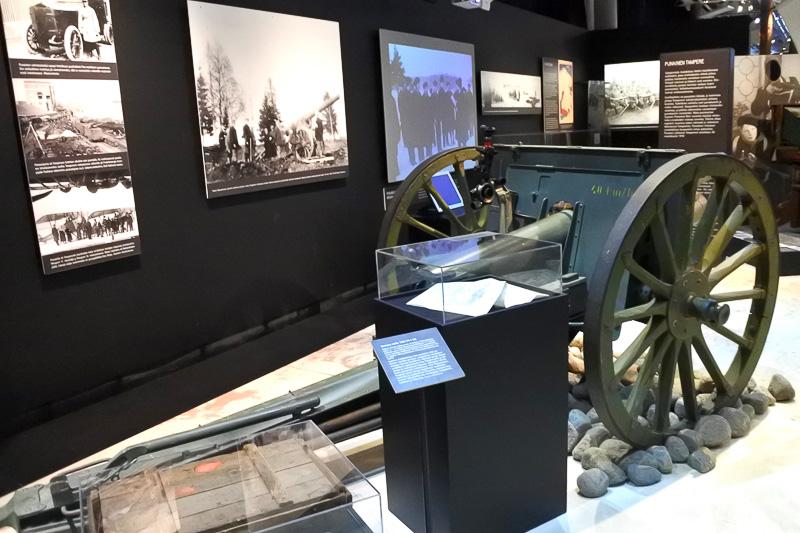 「タンペレ1918展」では、フィンランドの内戦についてを紹介