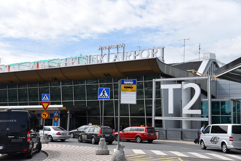 ヘルシンキ・ヴァンター国際空港のターミナル2に到着